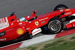 26.02.2010, Circuit de Catalunya, Barcelona, ESP, Formel 1 Tests, im Bild Fernando Alonso - Ferrari Malboro, EXPA Pictures © 2010, PhotoCredit: EXPA/ InsideFoto/ Semedia / SPORTIDA PHOTO AGENCY