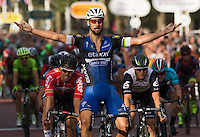LONDON UK 31ST JULY 2016:  Tom Boonen (BEL). The Prudential RideLondon-Surrey 100 Sportive in London 31st July 2016<br />