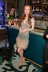 OLIVIA GRANT at a dinner hosted by Creme de la Mer to celebrate the launch of Genaissance de la Mer The Serum Essence held at Sexy Fish, Berkeley Square, London on 21st January 2016.