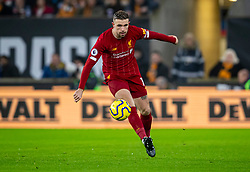 WOLVERHAMPTON, ENGLAND - Thursday, January 23, 2020: Liverpool's captain Jordan Henderson during the FA Premier League match between Wolverhampton Wanderers FC and Liverpool FC at Molineux Stadium. (Pic by David Rawcliffe/Propaganda)