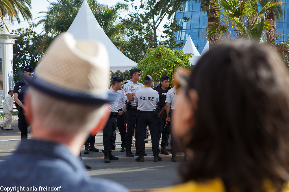 Cannes 70 Film Festival, France, 2017, police, security,