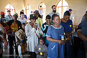 Patients prey before patient announcement at the Bundu Lodge during Operation Smile South Africa&rsquo;s 2015 mission to Mbombela. South Africa.<br /> <br /> (Operation Smile Photo - Zute Lightfoot)