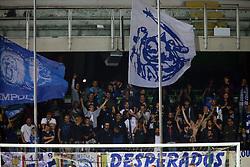 """Foto Filippo Rubin<br /> 17/04/2018 Cesena (Italia)<br /> Sport Calcio<br /> Cesena - Empoli - Campionato di calcio Serie B ConTe.it 2017/2018 - Stadio """"Dino Manuzzi""""<br /> Nella foto: I TIFOSI DELL'EMPOLI<br /> <br /> Photo by Filippo Rubin<br /> April 17, 2018 Cesena (Italy)<br /> Sport Soccer<br /> Cesena vs Empoli - Italian Football Championship League B 2017/2018 - """"Dino Manuzzi"""" Stadium <br /> In the pic: EMPOLI SUPPORTERS"""