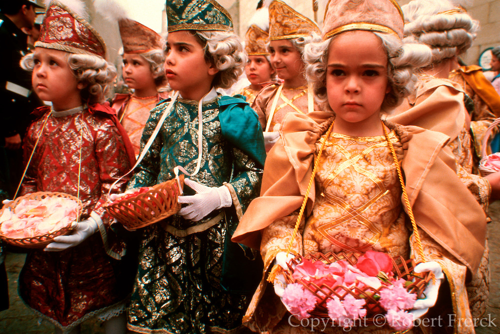 SPAIN, CORPUS CHRISTI, FESTIVAL Toledo; children's procession to Cathedral