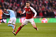 Aaron Ramsey (8) of Arsenal during the EFL Cup Final match between Arsenal and Manchester City at Wembley Stadium, London, England on 25 February 2018. Picture by Graham Hunt.