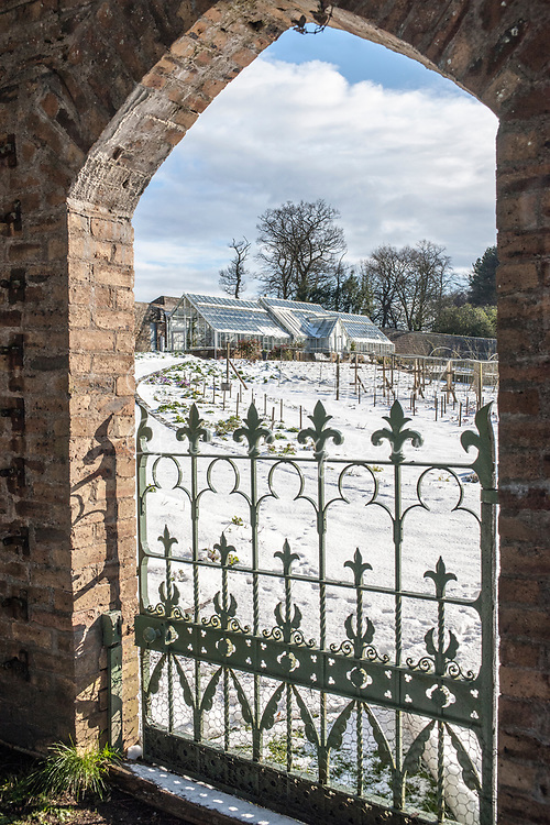Gateway into the snowy Walled Garden<br /> <br /> Teasses Estate, Ceres, Fife, Scotland<br /> <br /> <br /> photography &copy; Andrea Jones