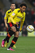 Picture by David Horn/Focus Images Ltd +44 7545 970036.09/03/2013.Ikechi Anya of Watford during the npower Championship match at Vicarage Road, Watford.