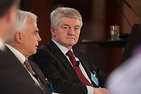 "25 MAY 2012, BERLIN/GERMANY:<br /> Heinrich Hiesinger, Vorstandsvorsitzender ThyssenKrupp AG, Global Business Dialogue ""Beyond Uncertain Times: A Growth Agenda"", axica Konferenzzentrum<br /> IMAGE: 20120525-02-026"