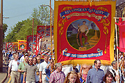 Kellingley Colliery Banner, Yorkshire Miners Gala Barnsley 16/6//96