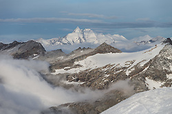THEMENBILD - Morgennebel liegt in den Bergtäler um das Grossglocknermassiv, aufgenommen am 6. Oktober 2014 // Morning fog hangs in the mountain valleys to the Grossglockner massif, Pictured on October 6, 2014. EXPA Pictures © 2014, PhotoCredit: EXPA/ Johann Groder