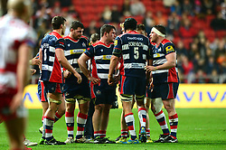 Bristol Rugby team talk during the game against Gloucester Rugby - Mandatory by-line: Dougie Allward/JMP - 24/03/2017 - RUGBY - Ashton Gate - Bristol, England - Bristol Rugby v Gloucester Rugby - Aviva Premiership