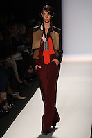 Ruby Aldridge walks the runway wearing BCBG MAXAZRIA Fall 2012 during Mercedes-Benz Fashion Week in New York City,  on February 9th, 2012