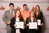 Oklahoma Grain and Feed Industry Scholarship recipient, Amanda Upton, christopher reid, tyler grace, jenna fowler, kelsey gibbs.