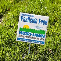 """Pesticide Free"" lawn sign"
