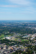 Aerial view of Sun Prairie, Wisconsin.