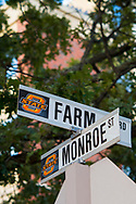 The intersection of Farm Road and Monroe Street and the home of Ag Hall. The hub of the College of Agricultural Sciences and Natural Resources.