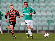 FODBOLD: Rasmus Hansen (AB) følges af Tobias Christensen (FC Helsingør) under kampen i NordicBet Ligaen mellem AB og FC Helsingør den 11. maj 2017 på Helsingør Stadion. Foto: Claus Birch