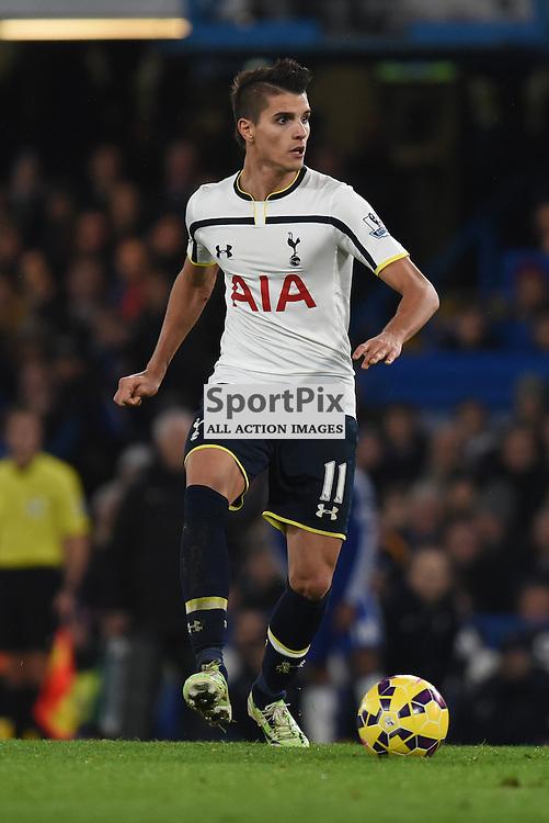 Tottenham MF Erik Lamela (11) in action during Chelsea v Tottenham Hotspur, Barclays Premier League, 3 December 2014 at Stamford Bridge Stadium, London, England (c) Salvio Calabrese   SportPixPix.org.uk