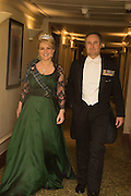LADY DALMANY; LT. COL CHRISTOPHER PALMER, The Royal Caledonian Ball 2015. Grosvenor House. Park Lane, London. 1 May 2015.