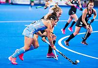 Londen - Maria-Jose Granatto (Arg)  tijdens de cross over wedstrijd Argentinie-Nieuw Zeeland (2-0)  bij het WK Hockey 2018 in Londen .  COPYRIGHT KOEN SUYK