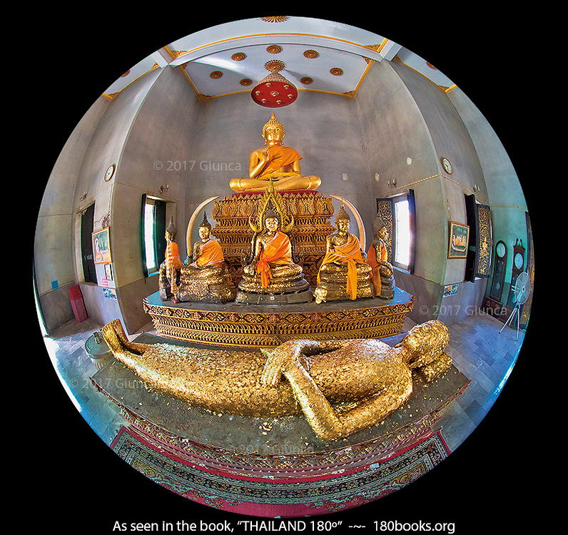 Supine Buddha Image at Wat Phra Non, in Suphan Buri, Thailand