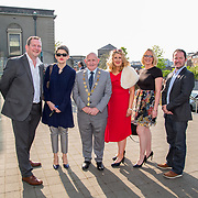 11.05. 2017.                                                 <br /> Over 20 leading Irish and international fashion media and influencers converged on Limerick for 24 hours on, Thursday, 11th May for a showcase of Limerick's fashion industry, culminating with Limerick School of Art & Design, LIT, presenting the LSAD 360° Fashion Show, sponsored by AIB.<br /> Pictured at the event were, Liam Brown, LIT, Frances O'Connell, LIT, Cllr. Kieran O'Hanlon, Mayor of Limerick City and County, Breda Harkins, LIT, Linda Barry, LIT and James Greenslade, LSAD. Picture: Alan Place