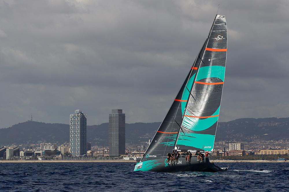 SPAIN, Barcelona.12th September 2011. AUDI MedCup, Conde de Godo Barcelona Trophy. TP52 Practice Race. Quantum Racing.