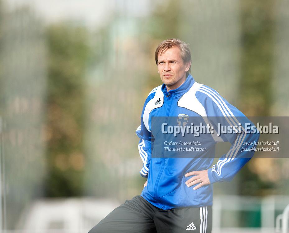 Kari Martonen. Alle 21-vuotiaiden maajoukkueen harjoitukset. Häckenin stadion, Göteborg, Ruotsi 20.6.2009. Photo: Jussi Eskola