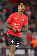 Southampton midfielder Mario Lemina (18) in warm up during the Premier League match between Southampton and Brighton and Hove Albion at the St Mary's Stadium, Southampton, England on 17 September 2018.