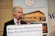 """Joe MacGrath North Tipperary County Manager  at the Water Services Training Group 15th Annual Conference entitled """" Water Services in Ireland-Organisational Modernisation and New Challenges"""". Photo:Andrew Downes. Photp issued with compliments, no reproduction fee."""