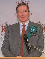 © Licensed to London News Pictures. 13/12/2019. Denham, UK. Independent candidate Dominic Grieve makes an emotional speech as he concedes defeat of the Beaconsfield constituency at the offices of the South Bucks District Council during 2019 United Kingdom general election. Photo credit: Peter Manning/LNP