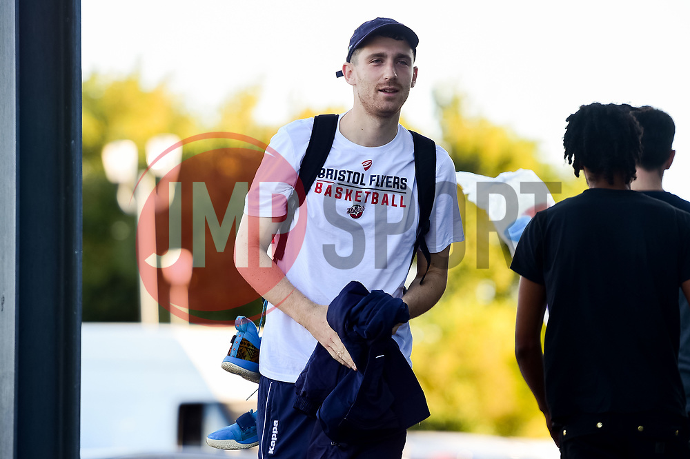 Josh Rogers of Bristol Flyers arrives at SGS Wise Arena prior to tip off - Photo mandatory by-line: Ryan Hiscott/JMP - 20/09/2019 - BASKETBALL - SGS Wise Arena - Bristol, England - Bristol Flyers v Surrey Scorchers - British Basketball League Cup