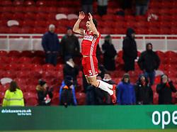 George Friend of Middlesbrough celebrates his side's win over Leeds United - Mandatory by-line: Robbie Stephenson/JMP - 02/03/2018 - FOOTBALL - Riverside Stadium - Middlesbrough, England - Middlesbrough v Leeds United - Sky Bet Championship