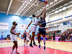Marcus Delpeche of Bristol Flyers - Rogan/JMP - 11/10/2019 - BASKETBALL - SGS Wise Arena - Bristol, England - Bristol Flyers v Plymouth Raiders - BBL Cup.