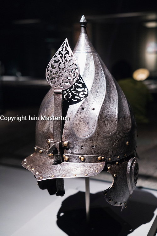 Turban Helmet from Turkey on display at Museum of Islamic Art in Doha Qatar
