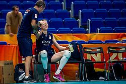 18-10-2018 JPN: World Championship Volleyball Women day 19, Yokohama<br /> Training day Netherlands in Yokohama Arena / Lonneke Sloetjes #10 of Netherlands, Rinke van den Brink of Netherlands