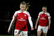 Arsenal defender Leah Williamson (6) during the FA Women's Super League match between Arsenal Women and Yeovil Town Women at Meadow Park, Borehamwood, United Kingdom on 20 February 2019.