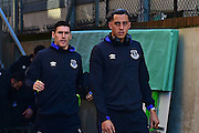 Everton Midfielder Gareth Barry and Everton Defender Ramiro Funes Mori arrive at Selhurst Park during the Premier League match between Crystal Palace and Everton at Selhurst Park, London, England on 21 January 2017. Photo by Jon Bromley.