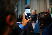 Palazzo del Quirinale il Presidente della Repubblica Sergio Mattarella saluta la stampa dopo il discorso di insediamento del Presidente del Consiglio Giuseppe Conte. Roma 04 Settembre 2019. Christian Mantuano / OneShot