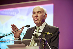 Lib Dem Vince Cable at Scottish Lib Dem Conference at Hamilton Town House. Pic copyright Terry Murden @edinburghelitemedia