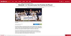 Rouen Huskies Team Celebration, TendanceOUEST.fr, 2018