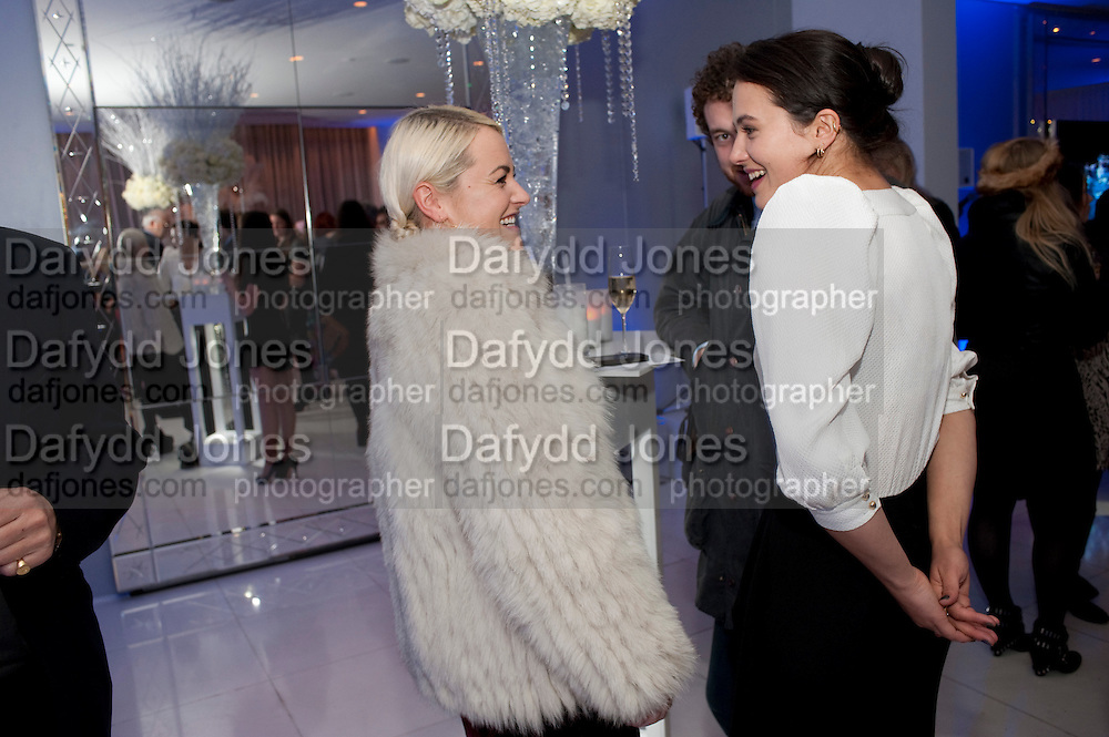 JAIME WINSTONE; JESSICA BROWN FINDLAY, English National Ballet's party before performance of the ' The Nutcracker. St. Martin's Lane Hotel. London 14 December 2011.