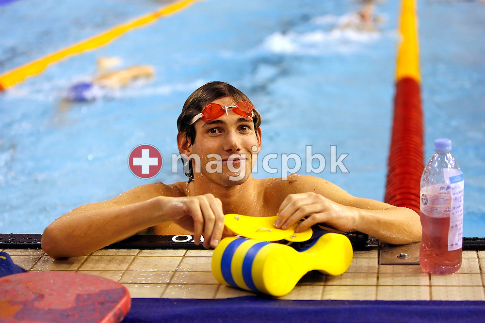 Daniel Rast of Switzerland is pictured during a practice session two days before the start of the European Short Course Swimming Championships in Maekelaenrinne Swimming Centre in Helsinki, Finland, Tuesday, December 5, 2006. (Photo by Patrick B. Kraemer / MAGICPBK)