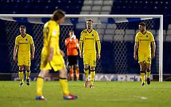 Bristol Rovers players look dejected after conceding the third goal - Mandatory by-line: Matt McNulty/JMP - 14/03/2017 - FOOTBALL - Gigg Lane - Bury, England - Bury v Bristol Rovers - Sky Bet League One