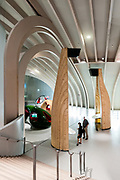 Exhibitions displays showing harvests, fermentation, maturation and aging process.The City of Wine, Bordeaux, France. Architect: XTU Architects, 2016.
