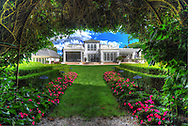 "Bridgehampton, NY,  September 15, 2016: --- A magnificent Bridgehampton home with lush manicured gardens that include a ""secret garden"". This home is an absolute oasis.            © Audrey C. Tiernan"