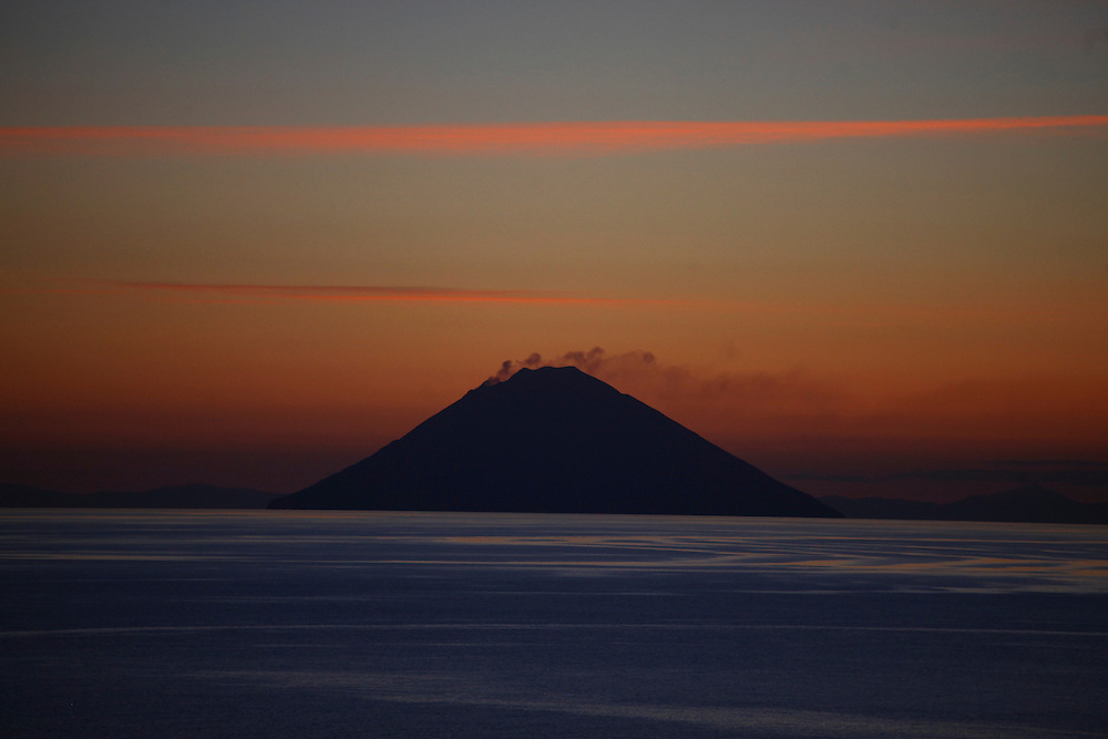 Stromboli, Art Print, Italia, Islands, Sicily, Sunrise