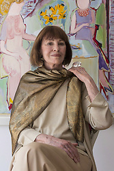 GLORIA VANDERBILT (February 20, 1924 - June 17, 2019) was an American artist, author, actress, fashion designer, heiress, and socialite. She was a member of the Vanderbilt family of New York and the mother of CNN television anchor Anderson Cooper. The subject of a high-profile child custody trial in the 1930s, she later became known in connection with a line of fashions, including an early version of ''designer'' blue jeans. PICTURED: June 14, 2013: Toronto, Ontario, Canada: American artist, writer and fashion designer GLORIA VANDERBILT poses for a photo in Toronto's De Luca Fine Art Gallery, at the launch of her first solo art show in Canada. (Credit Image: © Chris Young/The Canadian Press/ZUMAPRESS.com)