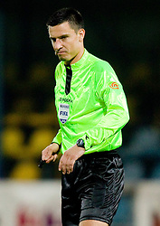 Referee Slavko Vincic during the football match between NK Domzale and MIK CM Celje, played in the 10th Round of Prva liga football league 2010 - 2011, on September 22, 2010, Spors park, Domzale, Slovenia. Domzale defeated Celje 1 - 0. (Photo by Vid Ponikvar / Sportida)