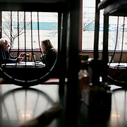 QUEENS, NY - APRIL 9, 2016: Democratic presidential candidate Bernie Sanders and his wife Jane Sanders have lunch at Van Dam Diner in Queens, New York. CREDIT: Sam Hodgson for The New York Times.